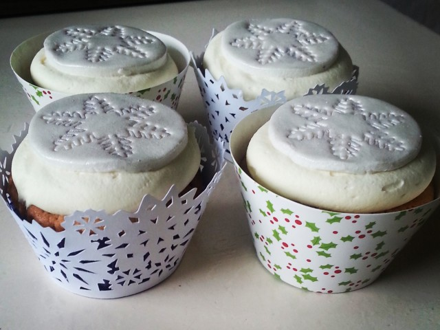 Witte chocolade cupcakes