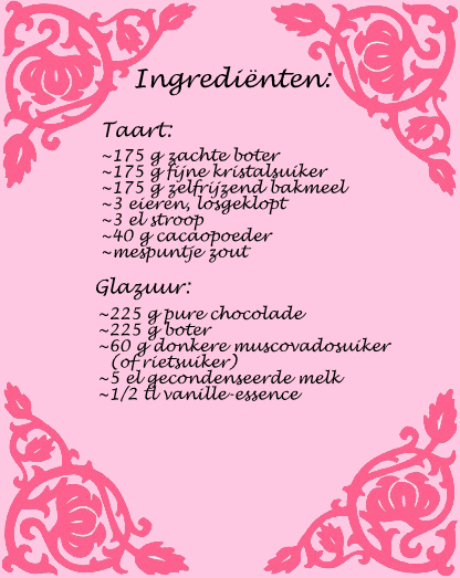 ingredienten chocoladetaart
