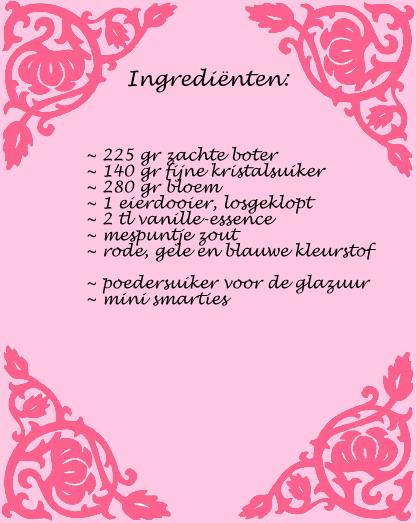 Ingredienten piñata koekjes