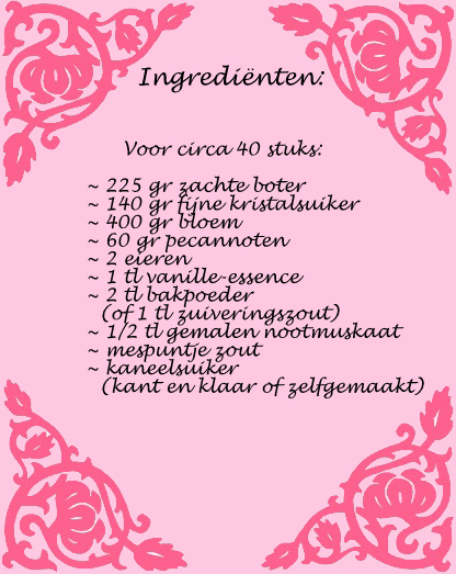 ingredienten snickerdoodles
