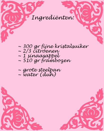ingredienten pink lemonade