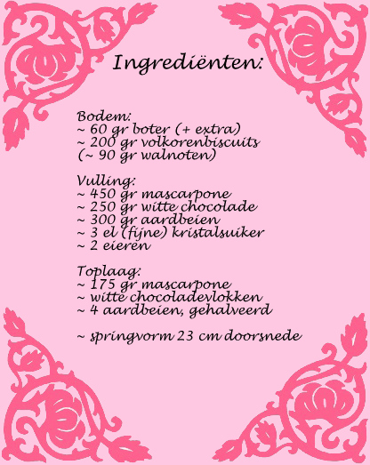 ingredienten aardbeien-mascarponetaart